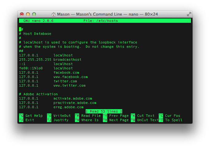 How to block websites on your mac using terminal mason sklut screenshots 1 2 3 ccuart Images